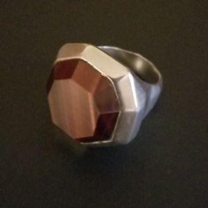 Silpada Sterling & Tiger's Eye Ring